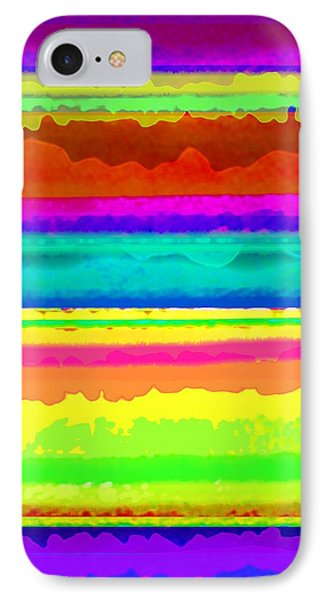 Bright Stripe IPhone Case by Louisa Knight