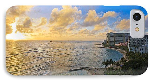 Bright Waikiki Sunset Phone Case by Tomas del Amo