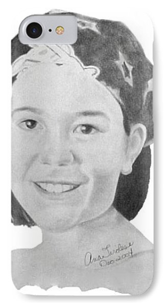 IPhone Case featuring the drawing Brittany Bettencourt by Ana Tirolese