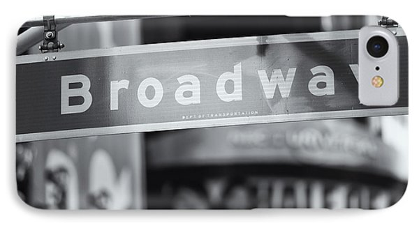 Broadway Street Sign II Phone Case by Clarence Holmes