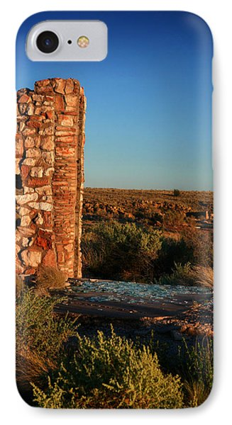 IPhone Case featuring the photograph Broken Glass At Two Guns by Lon Casler Bixby