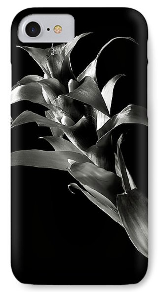 IPhone Case featuring the photograph Bromeliad In Black And White by Endre Balogh