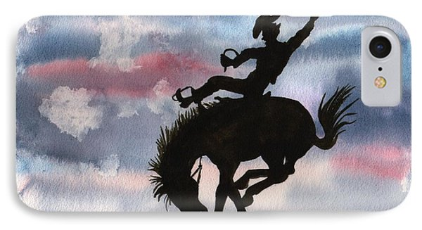 Bronco Busting IPhone Case by Sharon Mick
