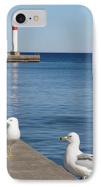IPhone Case featuring the photograph Bronte Lighthouse Gulls by Laurel Best