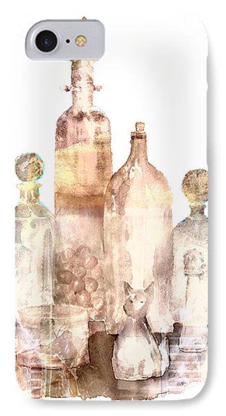 Bronzed Bottles Phone Case by Arline Wagner