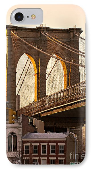 IPhone Case featuring the photograph Brooklyn Bridge - New York by Luciano Mortula