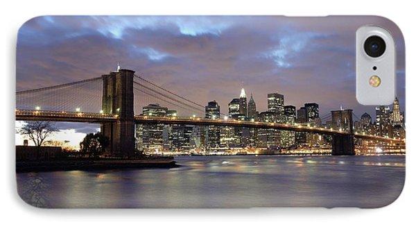Brooklyn Bridge And Lower Manhattan Phone Case by Axiom Photographic