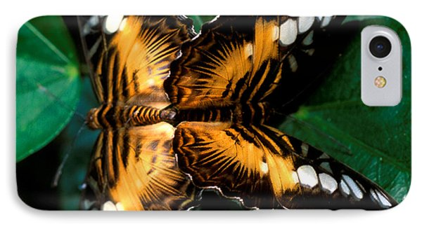 Brown Clipper Butterflies Mating Phone Case by Terry Elniski