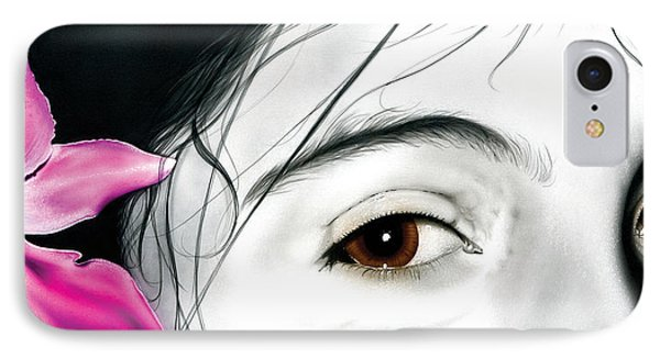 Brown Eyed Girl IPhone Case by Dan Menta