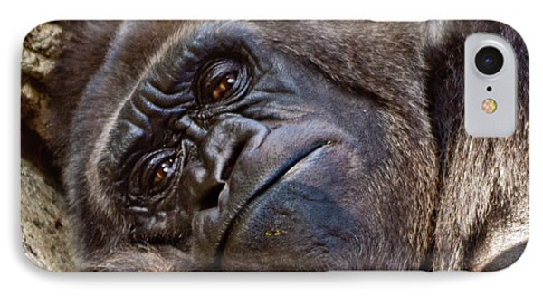 Brown Eyes IPhone Case by Jill Smith