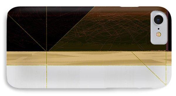 Brown Field IPhone Case by Naxart Studio