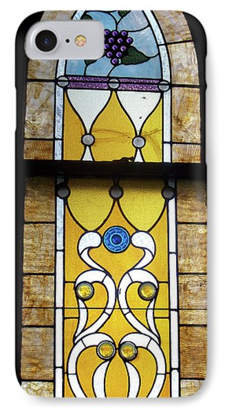 Brown Stained Glass Window Phone Case by Thomas Woolworth