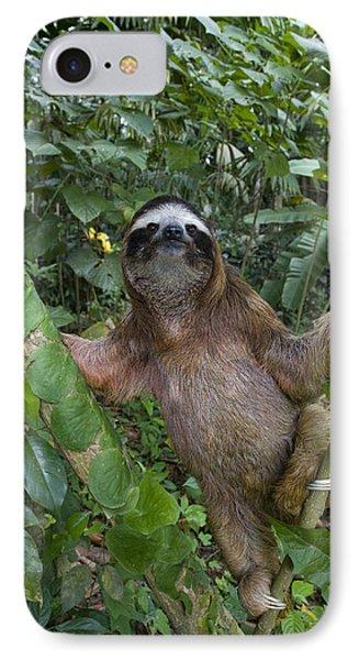 Brown-throated Three-toed Sloth Phone Case by Suzi Eszterhas
