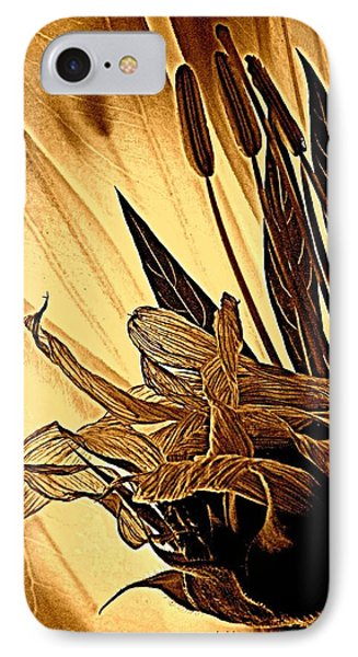 Brown Wildflowers Phone Case by Chris Berry