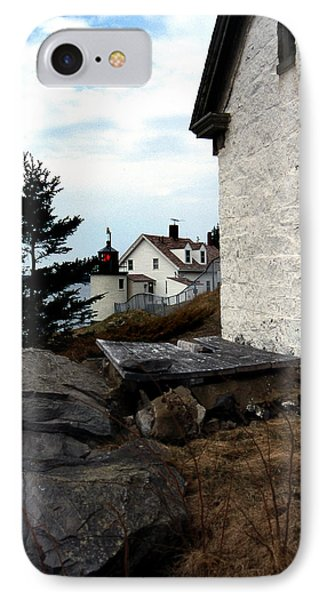 Browns Head Lighthouse Phone Case by Skip Willits