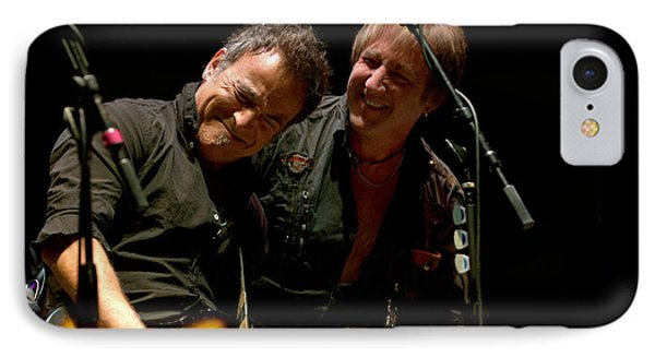 Bruce Springsteen And Danny Gochnour IPhone Case by Jeff Ross