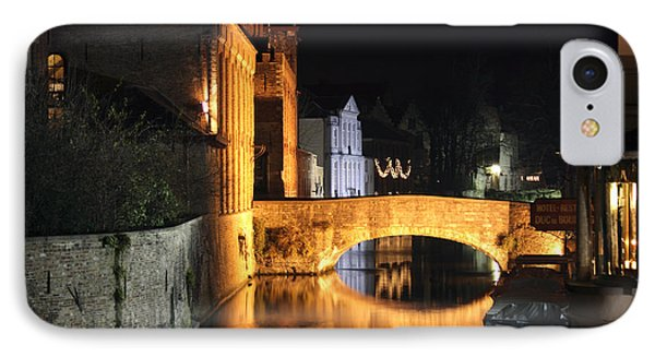 IPhone Case featuring the photograph Bruge Night by Milena Boeva
