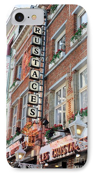 Brussels - Place Sainte Catherine Restaurants Phone Case by Carol Groenen