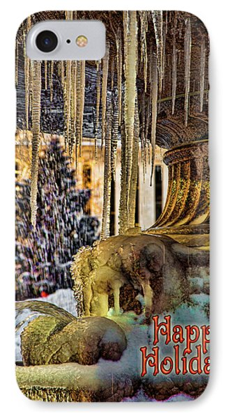 Bryant Park Fountain Holiday Phone Case by Chris Lord