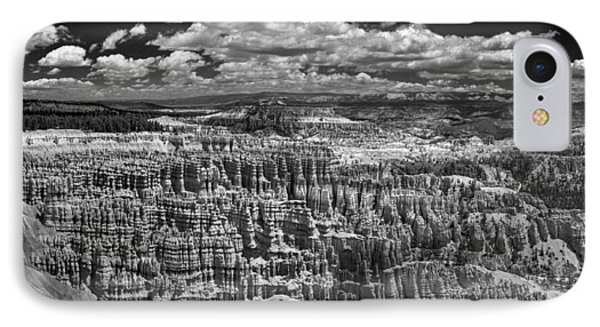 Bryce Canyon - Black And White IPhone Case by Larry Carr