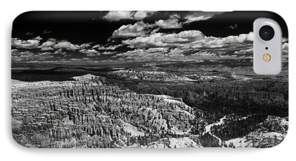 Bryce Canyon Ampitheater - Black And White IPhone Case by Larry Carr