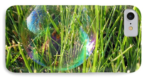 IPhone Case featuring the photograph Bubble In The Grass by Darleen Stry
