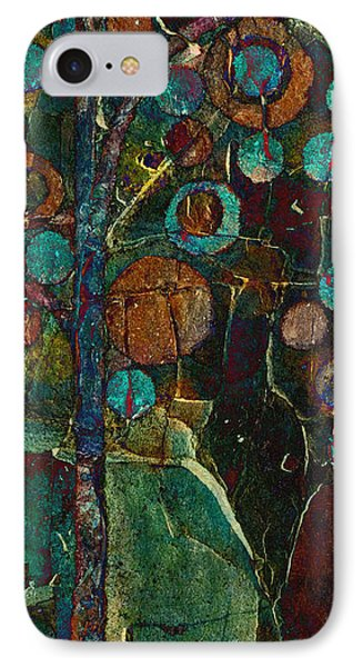 Bubble Tree - Spc01ct04 - Right IPhone Case by Variance Collections