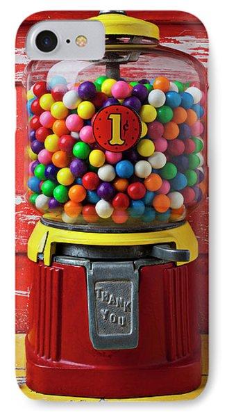Bubblegum Machine And Gum Phone Case by Garry Gay