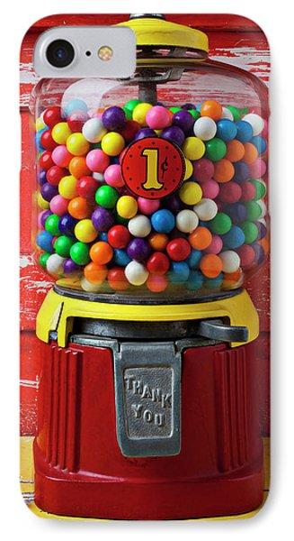 Bubblegum Machine And Gum IPhone Case by Garry Gay