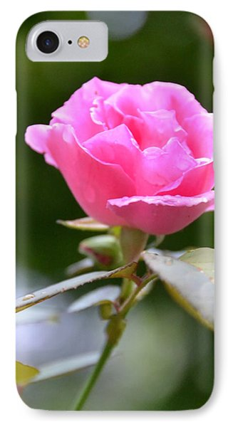 Bubblegum Rose IPhone Case by Bonnie Myszka