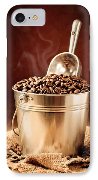 Bucket Of Coffee Beans IPhone Case by Amanda Elwell