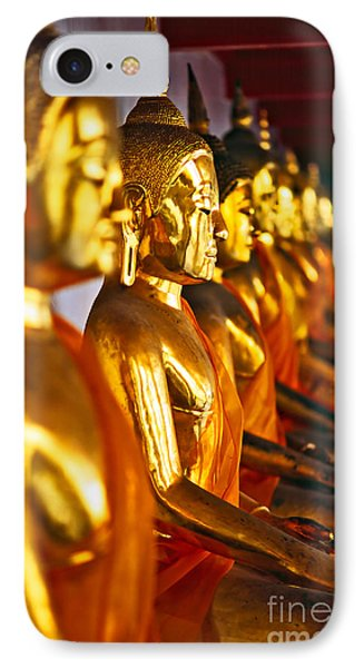 IPhone Case featuring the photograph Buddhas by Luciano Mortula