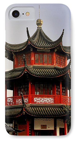 Buddhist Pagoda - Shanghai China Phone Case by Christine Till