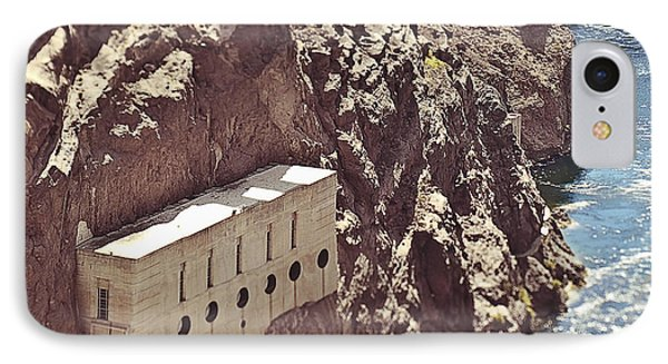 Building Built Into River Valley Cliff Phone Case by Eddy Joaquim