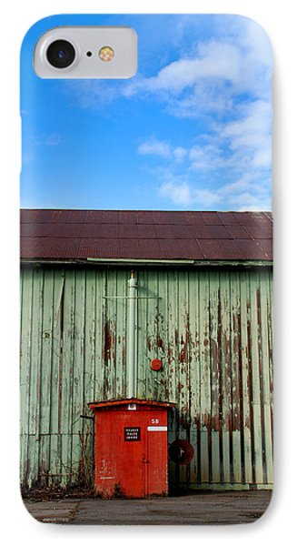 IPhone Case featuring the photograph Building Series - Red Shack by Kathleen Grace