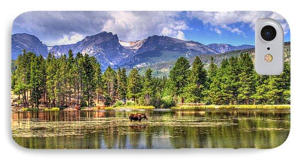 Bull Moose Wading Phone Case by Scott Mahon