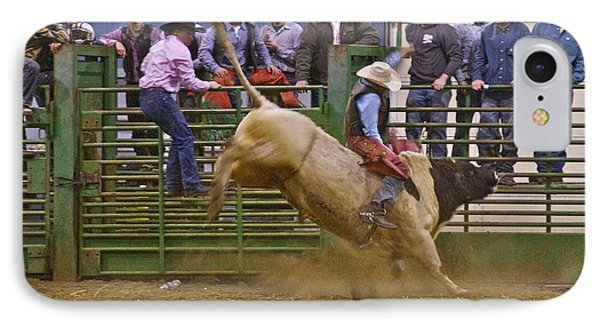 Bull Rider 2 Phone Case by Sean Griffin