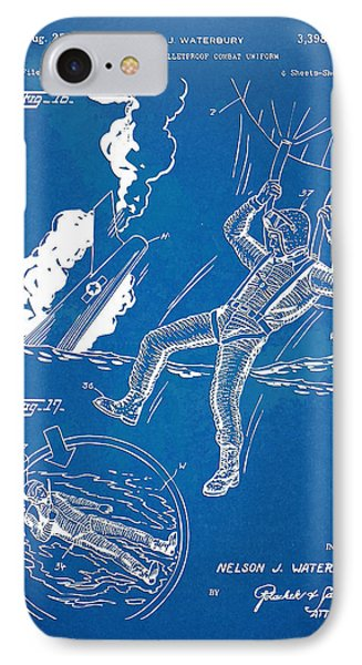 Bulletproof Patent Artwork 1968 Figures 16 To 17 Phone Case by Nikki Marie Smith