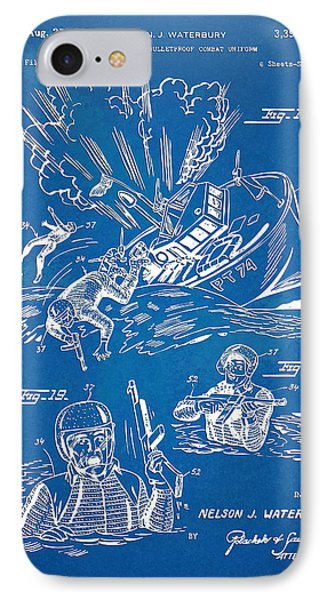 Bulletproof Patent Artwork 1968 Figures 18 To 20 Phone Case by Nikki Marie Smith