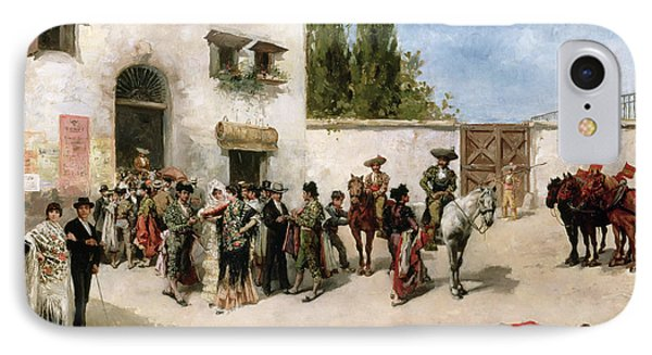 Bullfighters Preparing For The Fight  IPhone Case by Vicente de Parades