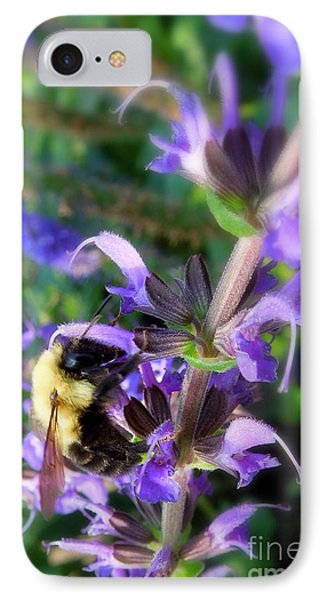 Bumble Bee On Flower Phone Case by Renee Trenholm