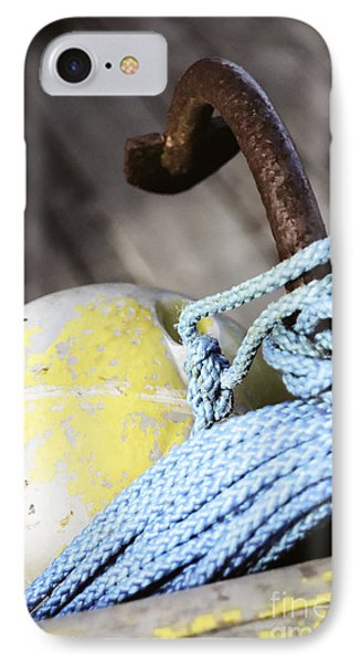 IPhone Case featuring the photograph Buoy Rope And Anchor by Agnieszka Kubica