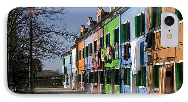 IPhone Case featuring the photograph Burano Venice by Raffaella Lunelli