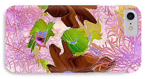 IPhone Case featuring the painting Burgundy Flowers by Richard James Digance