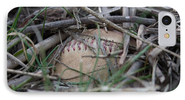 IPhone Case featuring the photograph Buried Baseball by Stephanie Nuttall