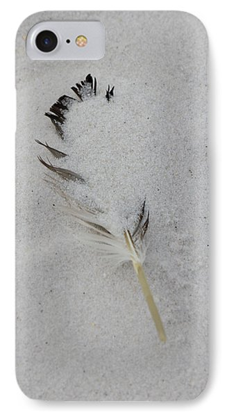 Buried Feather IPhone Case by Deborah Hughes