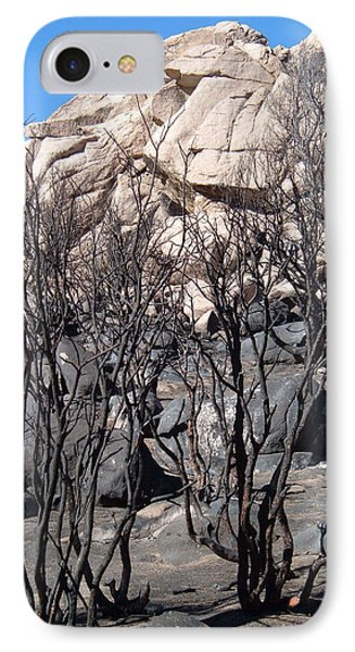 Burned Forest 5 IPhone Case by Naxart Studio