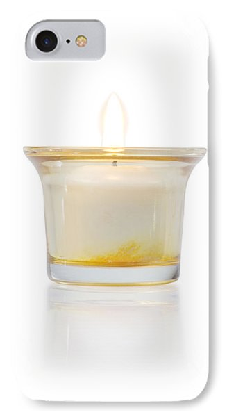 Burning Candle In Glass Holder IPhone Case by Atiketta Sangasaeng