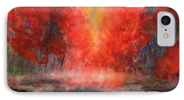 Burning Lake IPhone Case by Yoshiko Mishina