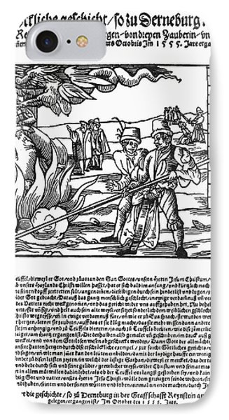 Burning Of Witches, 1555 Phone Case by Granger
